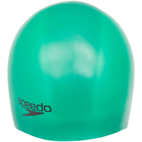 speedo Plain Moulded Silicone Bathing Cap green